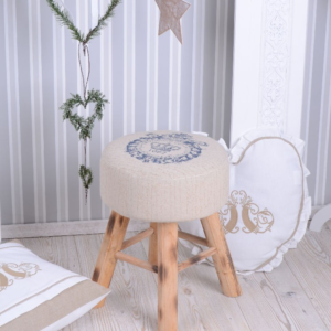 Pouff Vintage atelier alquiler chill out chic boho rustico madera nordico bodas eventos