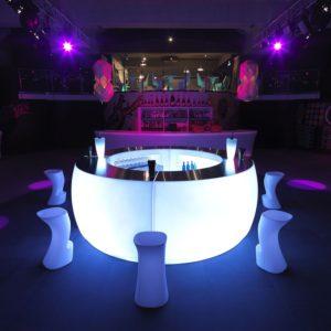 Barra Led VONDOM curvo copas baile discoteca bodas barra libre