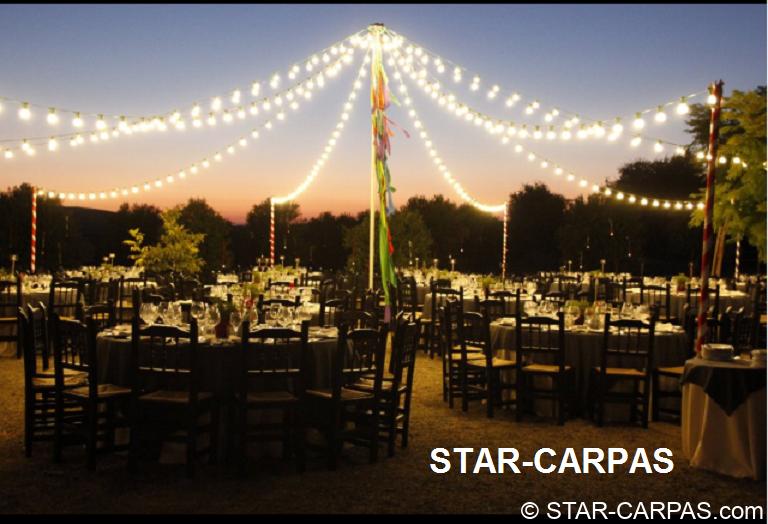 Alquiler de guirnaldas de bombillas vintage star carpas for Guirnaldas de luces