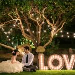 letras LOVE con bombillas 60cm 2