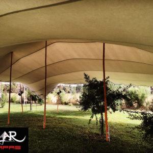 Carpa Beduina con arboles en su interior