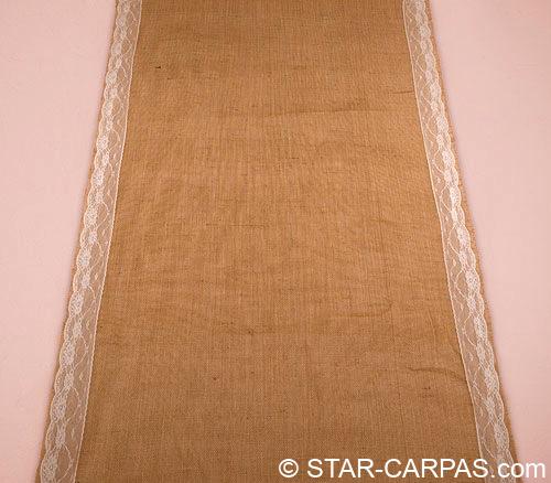 alfombra tela arpillera pasillo novios boda rústico vintage alquiler ceremonia