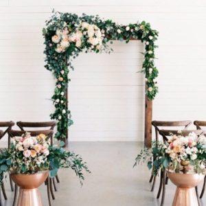 arco madera ceremonia rustico original