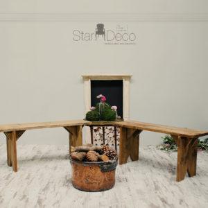Banco de madera 100cm