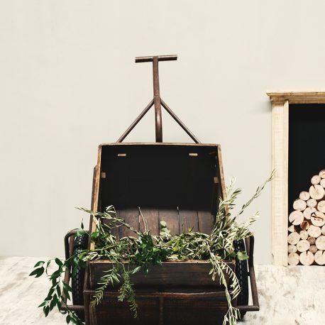 carrito vivero rustico vintage envejecido oxido madera alquiler bodas eventos mobiliario decoración