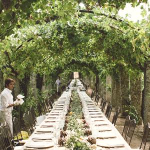 Mesa de madera maciza imperial para banquete