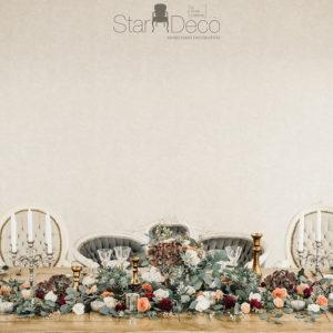 alquiler mesa imperial madera bodas eventos decoración vintage boho chic rústico