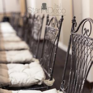 Sillas de forja estilo provenzal para banquete, bodas y eventos