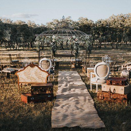 Pergola de forja ceremonia rincon decoracion boda evento