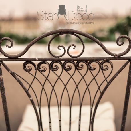 silla de forja provenzal
