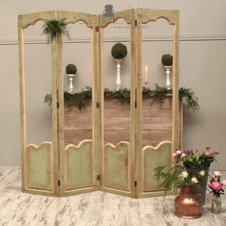 alquiler de biombo vintage cuatro hojas bodas decoración rustico boho