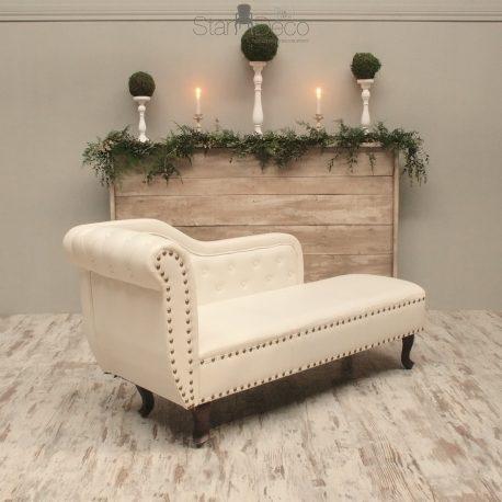Chaise Lounge Piel blanca 2
