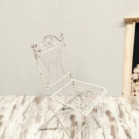 alquiler de silla de forja provenzal blanca para bodas banquete ceremonia vintage