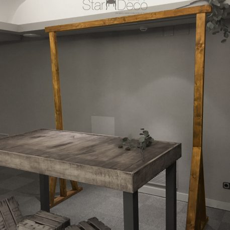 Arco de madera maciza roble envejecido