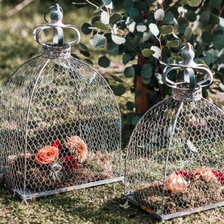 Conjunto de jaulas de forja vintage para decoracion bodas eventos