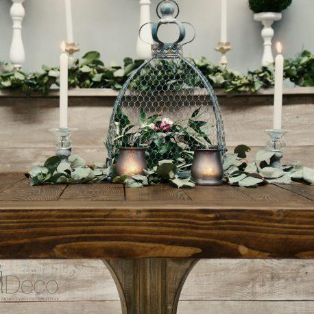Conjunto de jaulas de forja vintage para decoracion bodas